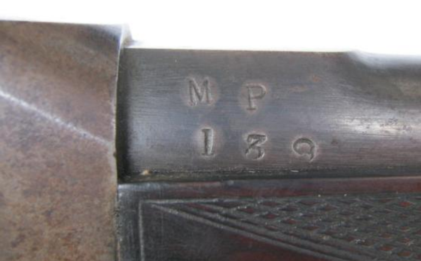 MP 139 issue mark believed to be Natal Mounted Police, the barrel and butt have a crown over AS inspection mark. Although not Ordnance Board issue Swinburn rifles and carbines were inspected at RSAF Birmingham and records show that between 1875 and 1886 a total of 450 rifles and 1340 carbines were processed in four batches, it would appear that all of these were sent to Natal. Was this carbine one of them? Were other Colonial forces armed with the Swinburn?